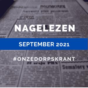 Nagelezen editie September 2021